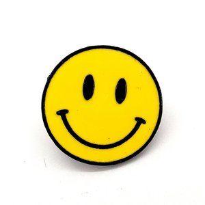 Happy Face Pin Badge Brooch
